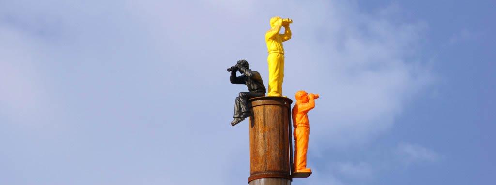 Foto von Skulptur Weltanschauungsmodell